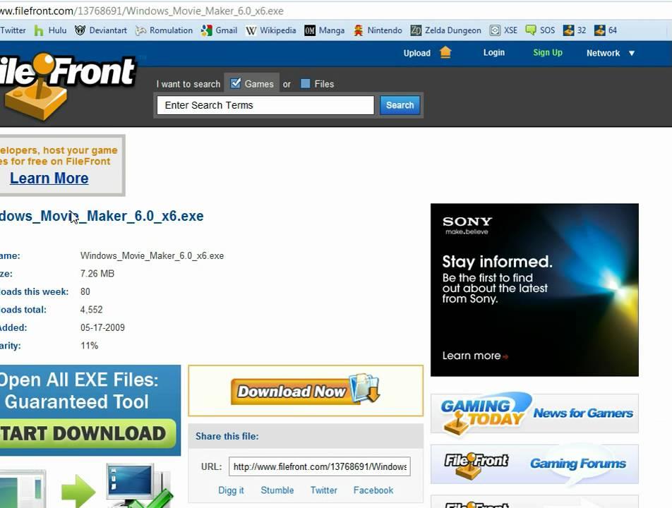 download windows movie maker version 1 history timeline