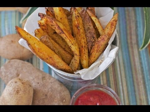 Crispy Oven Baked Fries Recipe - Cajun Seasoned