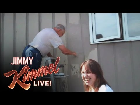 YouTube Challenge - Hey Jimmy Kimmel, I Sprayed My Dad With a Hose
