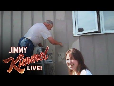 YouTube Challenge - Hey Jimmy Kimmel, I Sprayed My Dad With a Hose