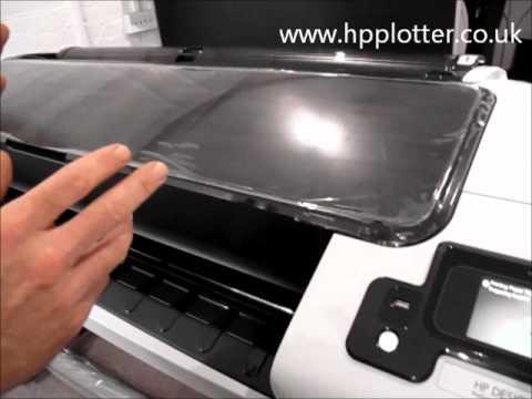 Designjet T1300/T790/T2300eMFP Series - Unload paper/media roll on your printer