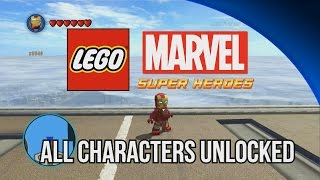 ALL Characters Unlocked LEGO Marvel Super Heroes