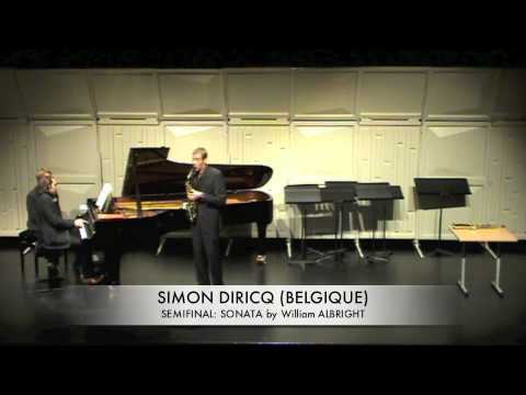 DIRICQ, SIMON BELGIQUE SONATA by William albright
