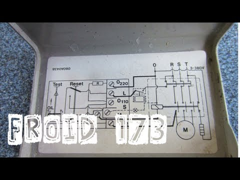 Froid173-Schéma électrique de câblage du pressostat différentiel d'huile-explications