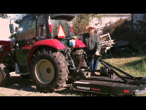 Attaching Tractor Implements with the Yanmar 3 Point Hitch