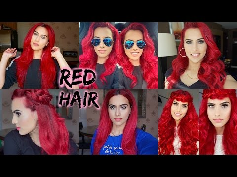 HOW TO: dye dark hair bright red | WITHOUT bleach