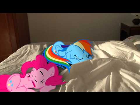 Rainbow Dash and Pinkie Pie Sleeping (MLP in real life)