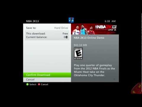 How To Download The NBA 2K13 Demo If You Don't See It On The Marketplace or PS Store