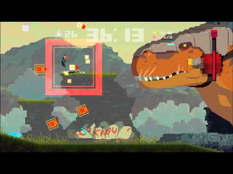 Let's Play Super Time Force Part 3: Dino Destruction