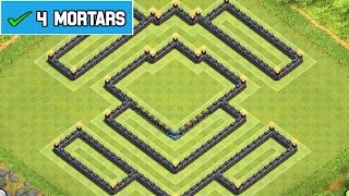 Clash Of Clans BEST TOWNHALL 8 TROPHY/WAR BASE [4th
