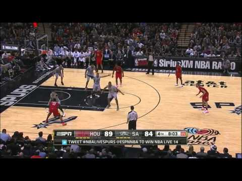 James Harden vs San Antonio Spurs 2013.12.25
