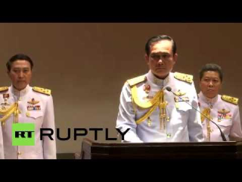 Thailand hot news: General Prayuth Chan-ocha walks off stage after being questioned about elections