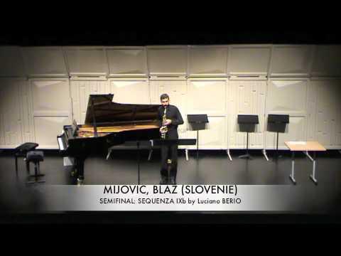 MIJOVIC, BLAZ (SLOVENIE) Sequenza IXb BERIO