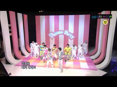 [Vietsub + Kara] 080803 Super Junior Happy - Pajama Party [sj13vn]