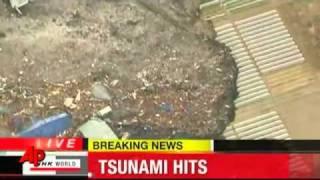 OVNI O OBJETO EXTRANO EN STUNAMI DE JAPON /Earthquake /ufo