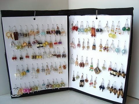 How To Make An Earring Rack Diy Organizer Storage Youtube