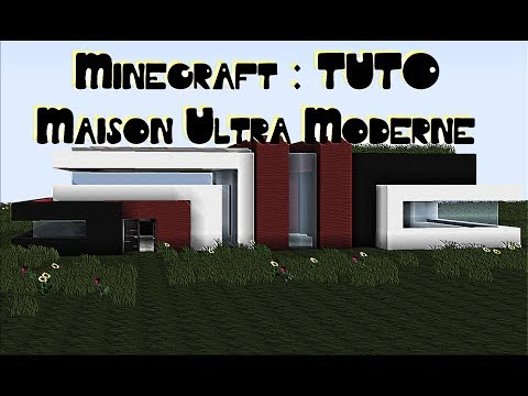Minecraft [TUTO] Maison Ultra Moderne Simple et sans mods  #2 Partie 1/2