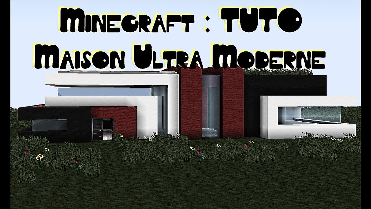 minecraft tuto maison ultra moderne simple et sans mods 2 partie 1 2 youtube. Black Bedroom Furniture Sets. Home Design Ideas
