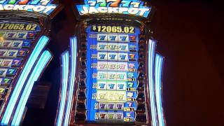 77777 Jackpot Slot Machine Bonus Win (queenslots)