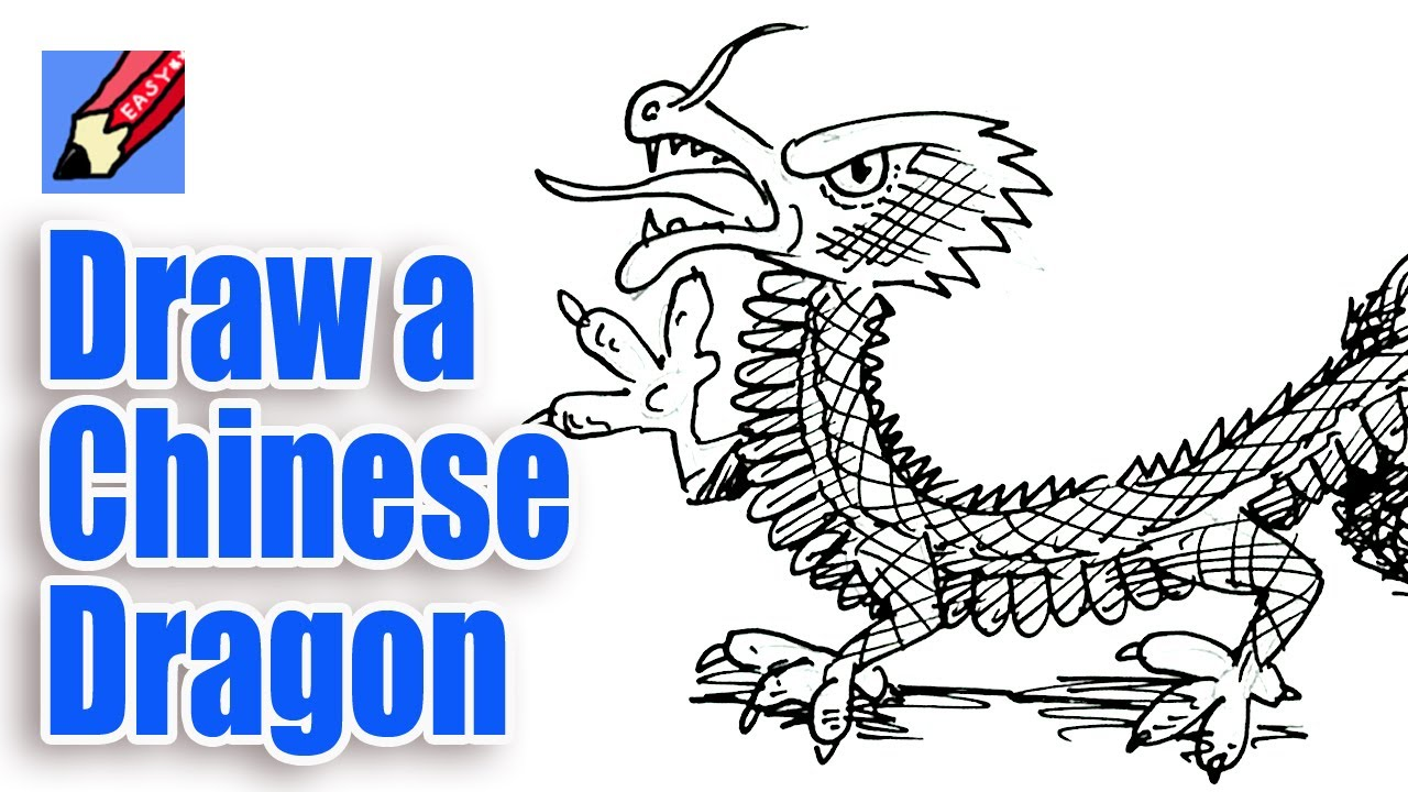 How To Draw A Chinese Dragon Real Easy  Youtube How To Draw A Chinese New