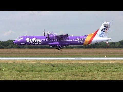 Flybe ► ATR-72 ► Inaugural Landing ✈ Groningen Airport Eelde