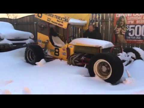 Vintage Sprint Car Firing Up