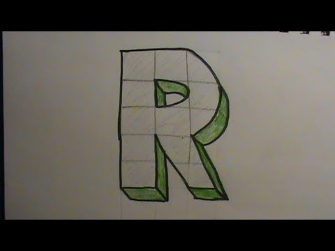 how to draw a 3d r
