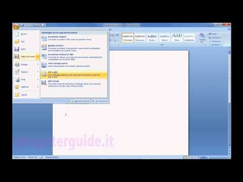 Microsoft Office Word 2007 Tutorial Italiano Prima Parte Windows 7 Windows 8
