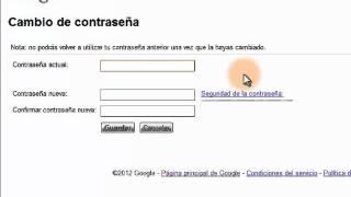 Como Cambiar La Contraseña De Su Cuenta Gmail