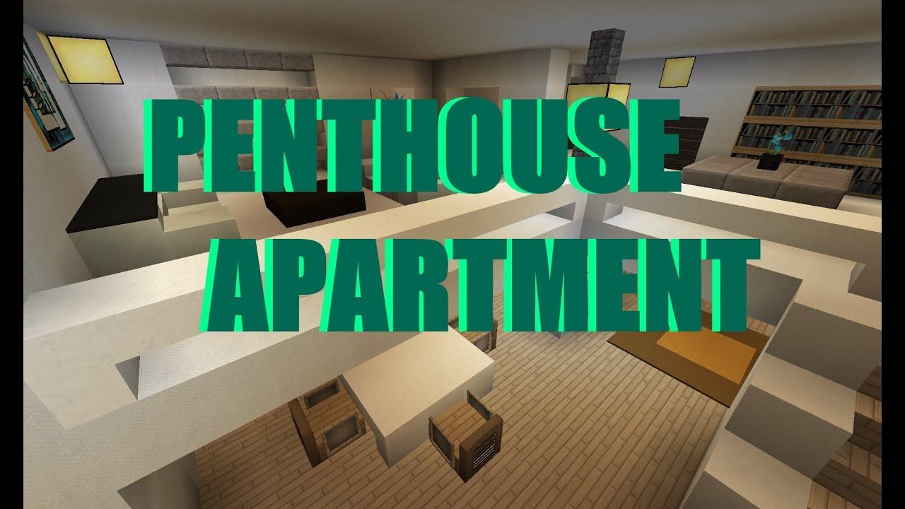 minecraft modern penthouse apartment moderne penthouse wohnung youtube. Black Bedroom Furniture Sets. Home Design Ideas