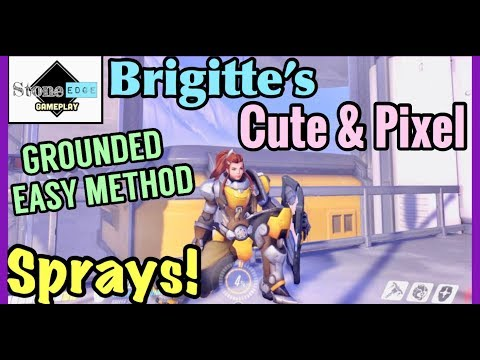 Brigitte - Excuse Me & Grounded Trophy / Achievement Guide [Overwatch] Cute & Pixel Spray