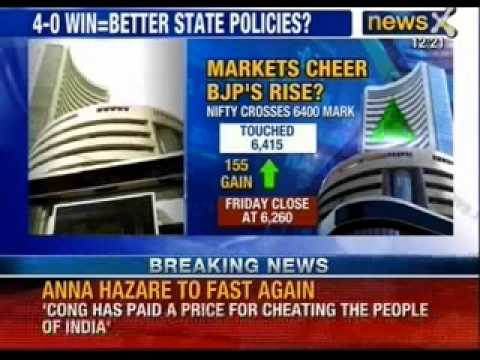Bombay stock exchange cheers Assembly elections verdict, records new heights - News X