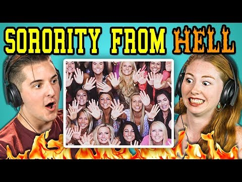 COLLEGE KIDS REACT TO SORORITY FROM HELL Sorority Chants