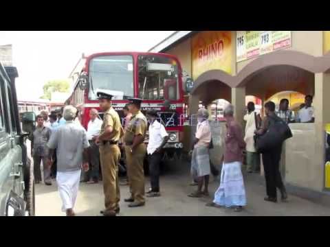 Jaffna Bus station demonstration