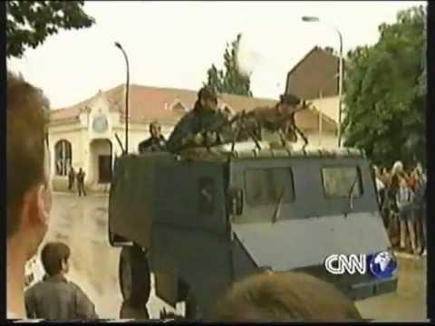 Largimi i milicit të fundit serb nga Besiana  (Podujeva) 1999