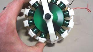3D Printed Motor Runs Almost Like a Perpetual Machine