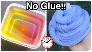 3 Ways How To Make Super Easy No Glue Slime Under 5 Minutes!!