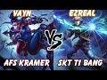 Full SKT T1 Bang Ezreal VS Vayne AFs Kramer KR LOL Challenger