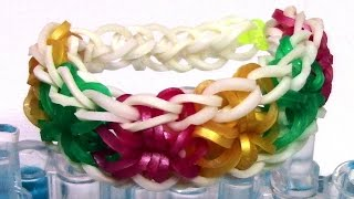 DIY Loom Bands Starburst Bracelet Tutorial Make Easy
