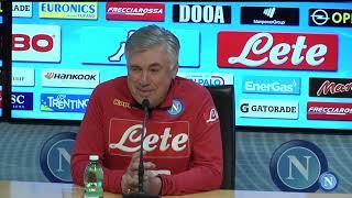 Cagliari - Napoli, la conferenza stampa di Ancelotti - Ancelotti's press conference