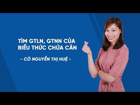 Tìm GTLN, GTNN của biểu thức chứa căn