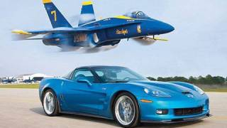 ZR1 Vette Vs Jet! Chevrolet Corvette ZR1 Races A U.S