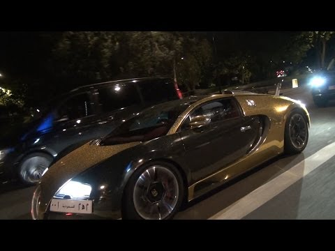GOLD RUSH ! ARAB Bugatti Veyron & Mansory Ghost in London
