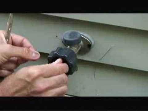 How To Fix A Leaky Frost Free Sillcock Outdoor Faucet Video Youtube