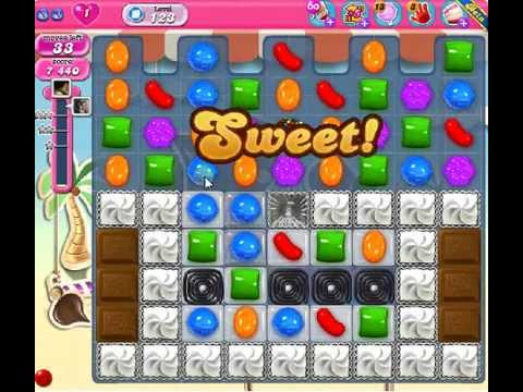 How to beat Candy Crush Saga Level 123 - 3 Stars - No Boosters - 174