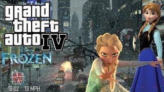 "GTA-IV Frozen The Ballad Of Elsa, Let It ""Snow"""