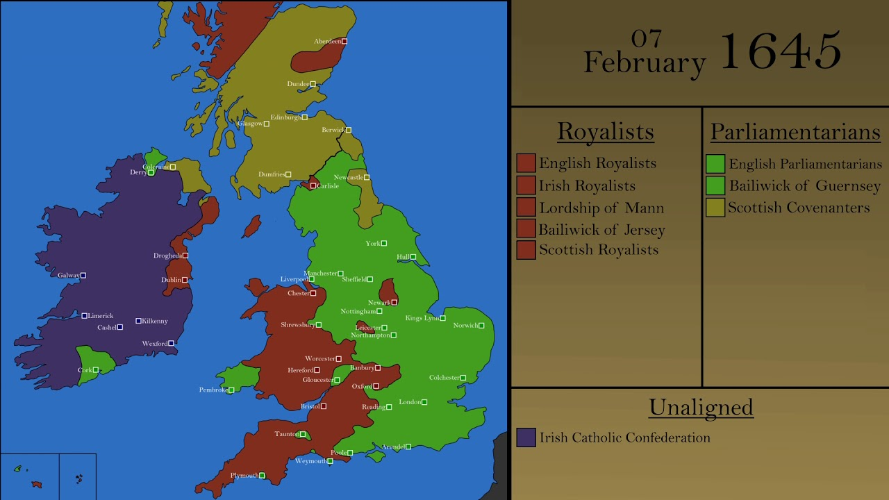 The English Civil War: Every Day - YouTube on