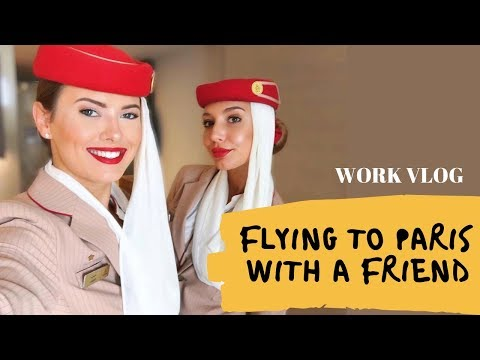FLYING TO PARIS WITH A FRIEND - FUNNY | Emirates Cabin Crew