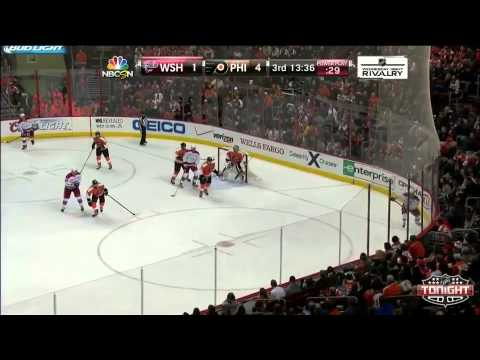 Capitals at Flyers.  Game Highlights.   NHL VideoCenter   Philadelphia Flyers