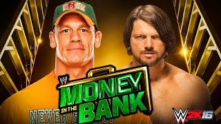 JOHN CENA vs AJ STYLES MONEY IN THE BANK 2016 !!! WWE 2K16   MrWikky92